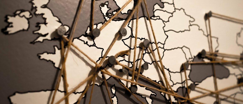 Europa Vernetzt mit Faden